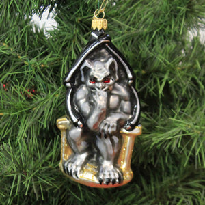 Gargoyle On Throne 19720 Morawski Glass Ornaments - SBKGIFTS.COM - SBK Gifts Christmas Shop Cincinnati - Story Book Kids