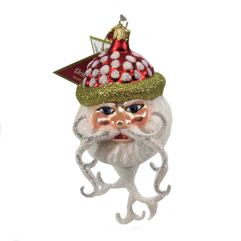Curly Cue Beard Santa 09012 Morawski Glass Ornaments - SBKGIFTS.COM - SBK Gifts Christmas Shop Cincinnati - Story Book Kids