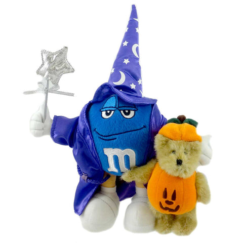 Boyds Bears Plush Gourdy With Blue M&M Halloween Teddy Bear 4771