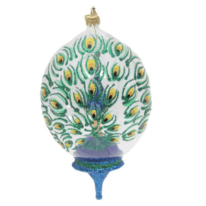Peacock In A Dome 17595 Morawski Glass Ornaments - SBKGIFTS.COM - SBK Gifts Christmas Shop Cincinnati - Story Book Kids