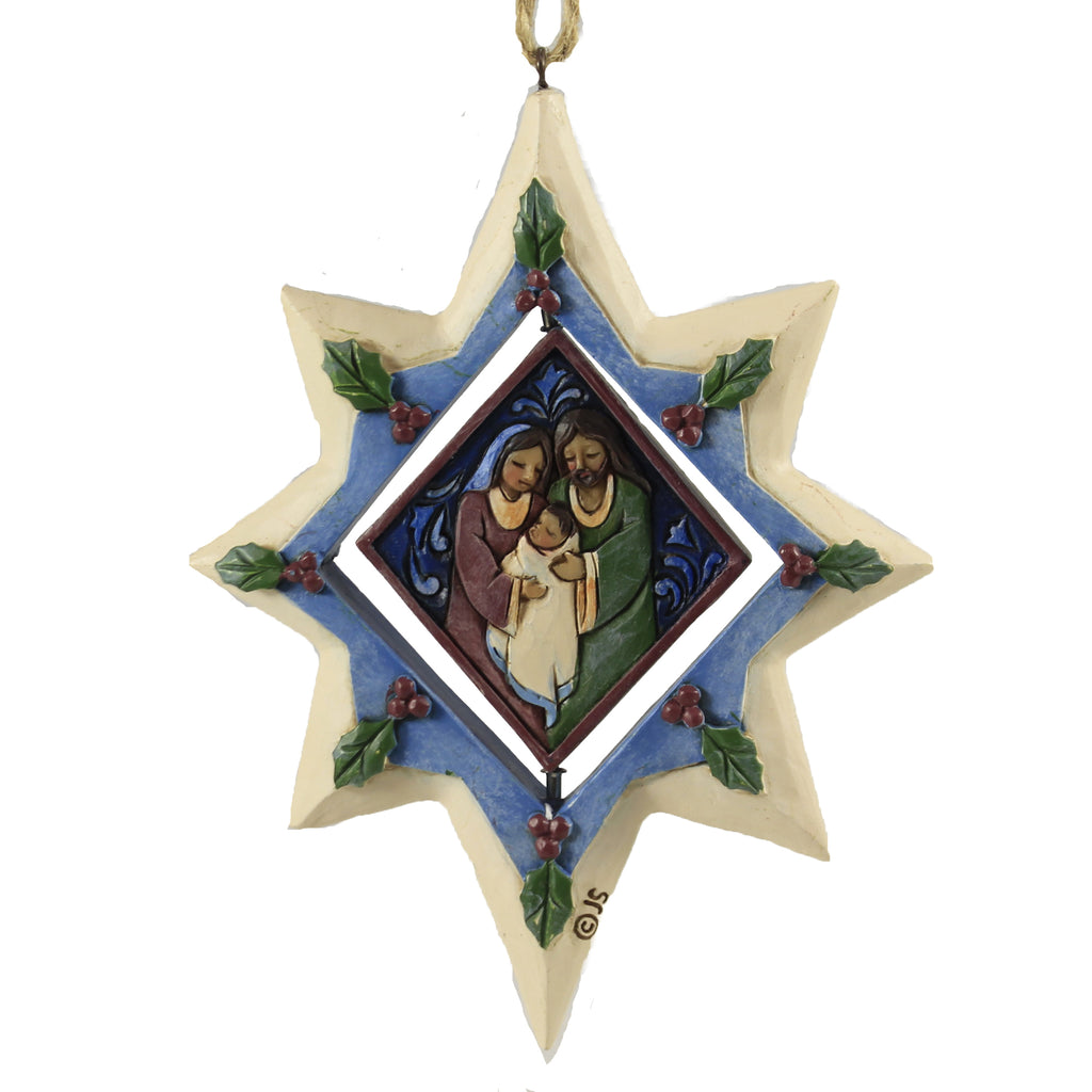Star Ornament With Holy Family 6006684Nd Jim Shore Resin Ornaments - SBKGIFTS.COM - SBK Gifts Christmas Shop Cincinnati - Story Book Kids