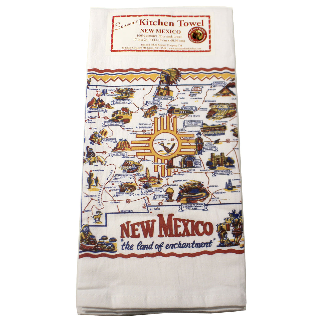 New Mexico Flour Sack Towel Nmsm01 Tabletop Decorative Towels - SBKGIFTS.COM - SBK Gifts Christmas Shop Cincinnati - Story Book Kids