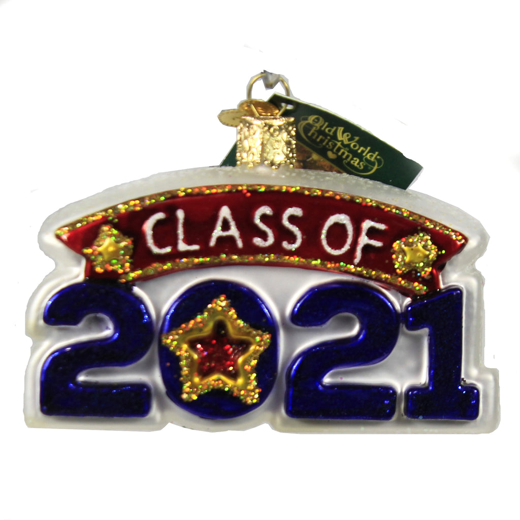 Class Of 2021 36284 Old World Christmas Glass Ornaments - SBKGIFTS.COM - SBK Gifts Christmas Shop Cincinnati - Story Book Kids
