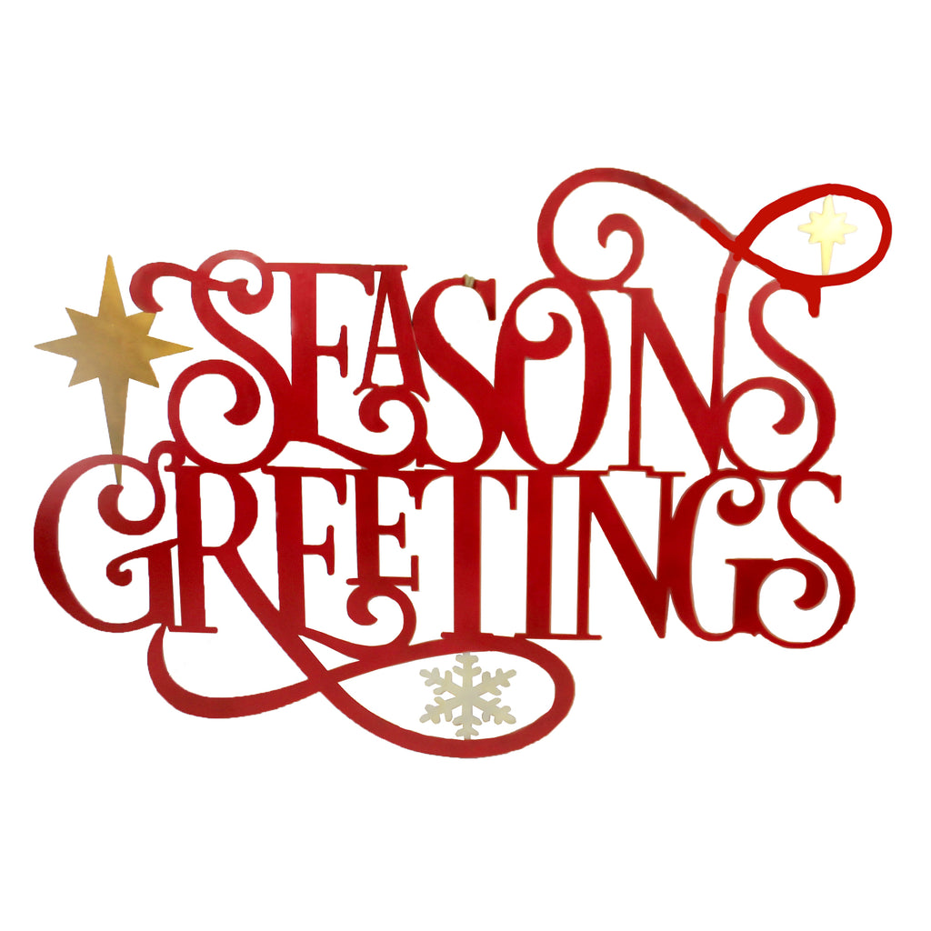 Laser Cut Seasons Greeting Sign 31844481 Christmas Other Garden Decor - SBKGIFTS.COM - SBK Gifts Christmas Shop Cincinnati - Story Book Kids