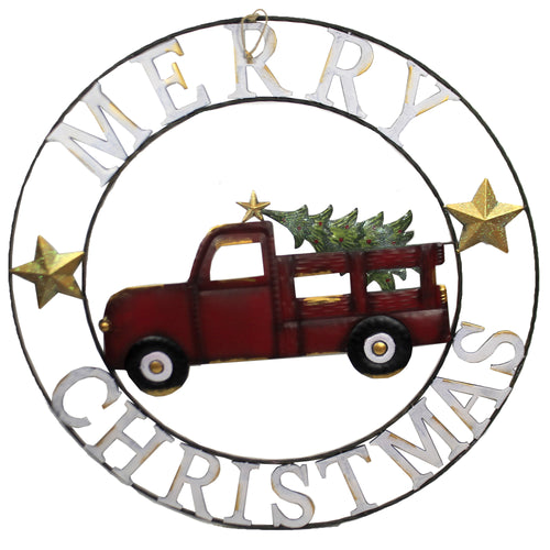Laser Cut Red Truck Wall Decor 31844426 Christmas Other Garden Decor - SBKGIFTS.COM - SBK Gifts Christmas Shop Cincinnati - Story Book Kids