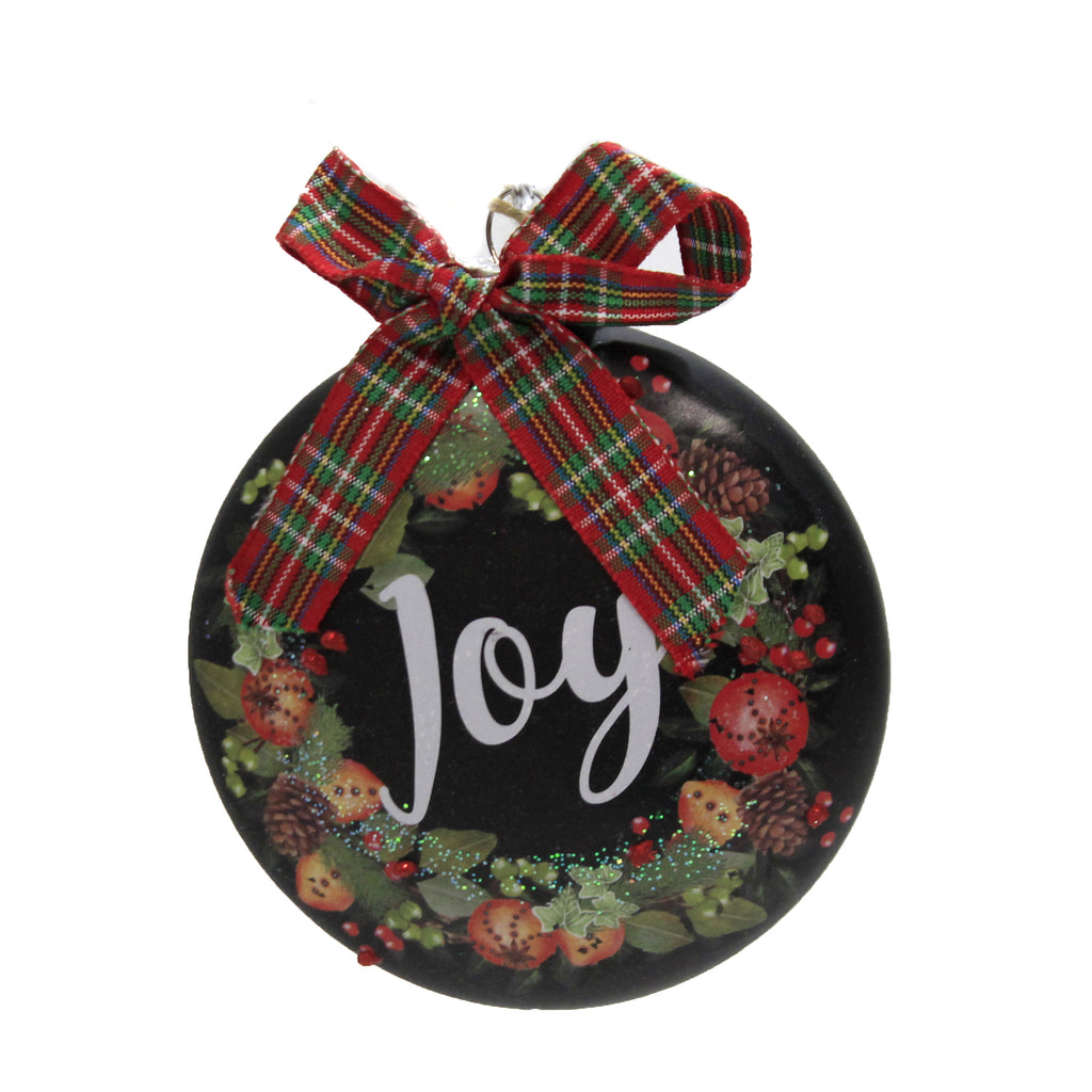 Chalkboard Wreath Ornament 6006868 Holiday Ornament Glass Ornaments - SBKGIFTS.COM - SBK Gifts Christmas Shop Cincinnati - Story Book Kids