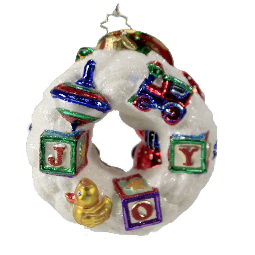 What Wonders Await Wreath 1020186 Christopher Radko Glass Ornaments - SBKGIFTS.COM - SBK Gifts Christmas Shop Cincinnati - Story Book Kids