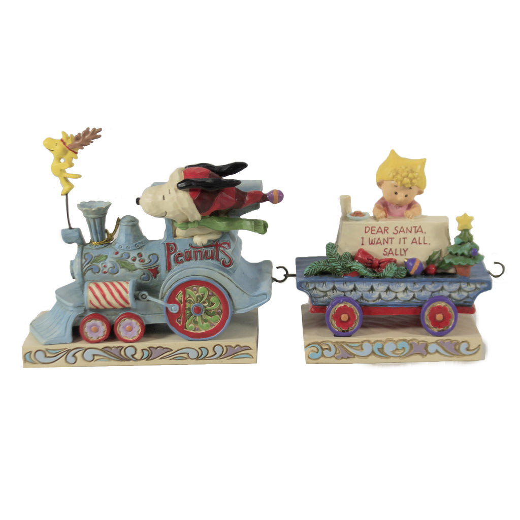 Peanuts Deluxe Train Set 4062623 Jim Shore Figurines - SBKGIFTS.COM - SBK Gifts Christmas Shop Cincinnati - Story Book Kids