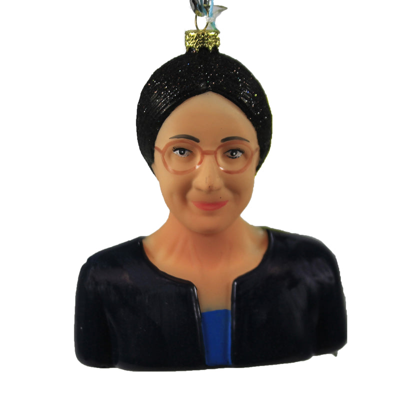 Alexandria Ocasio Cortez Go6413 Holiday Ornament Glass Ornaments - SBKGIFTS.COM - SBK Gifts Christmas Shop Cincinnati - Story Book Kids