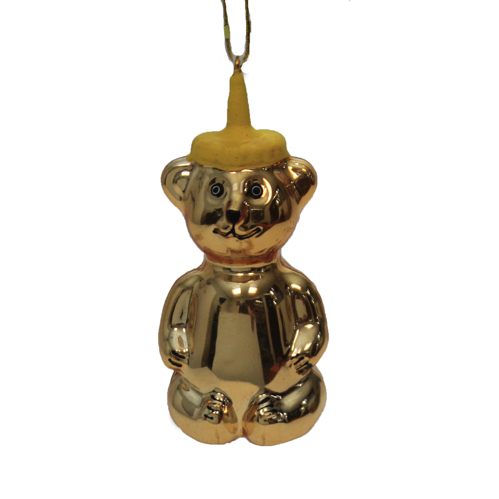 Honey Bear Bottle Go4254 Holiday Ornament Glass Ornaments - SBKGIFTS.COM - SBK Gifts Christmas Shop Cincinnati - Story Book Kids