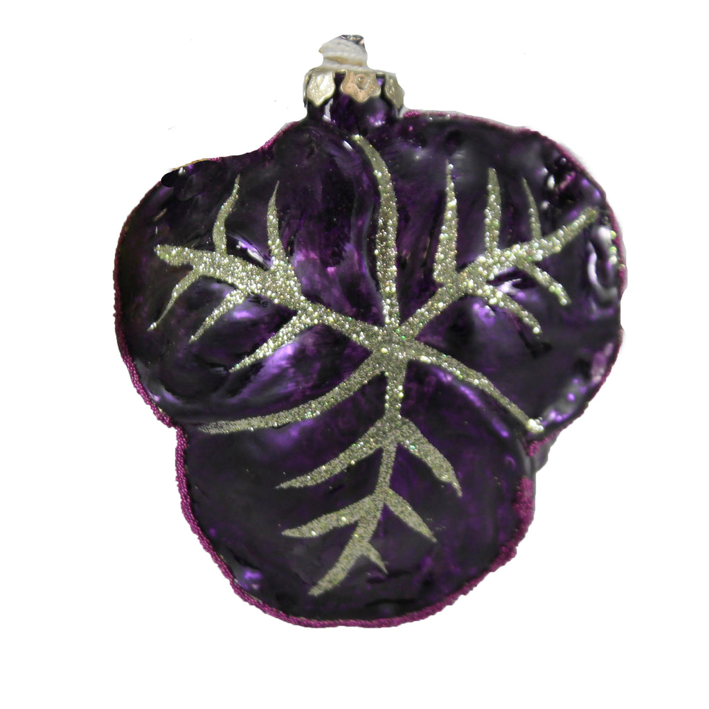 Purple Cabbage Go6687p Holiday Ornament Glass Ornaments - SBKGIFTS.COM - SBK Gifts Christmas Shop Cincinnati - Story Book Kids