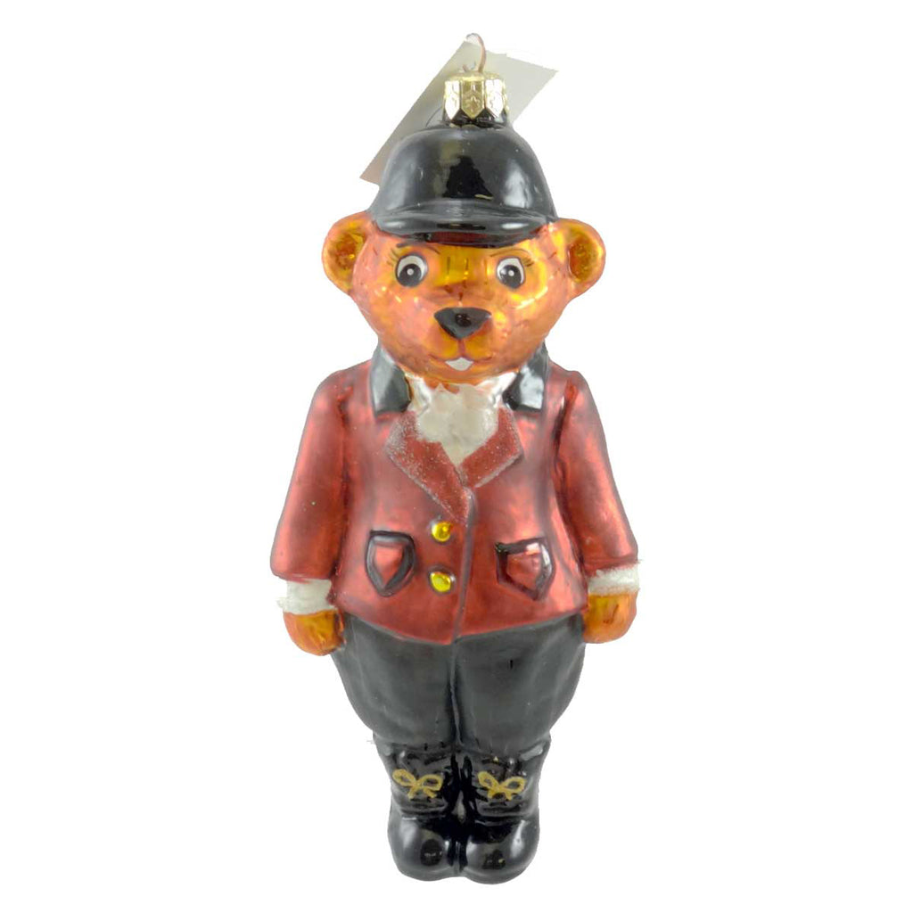 Christopher Radko TALLY HO Glass Ornament Teddy Bear