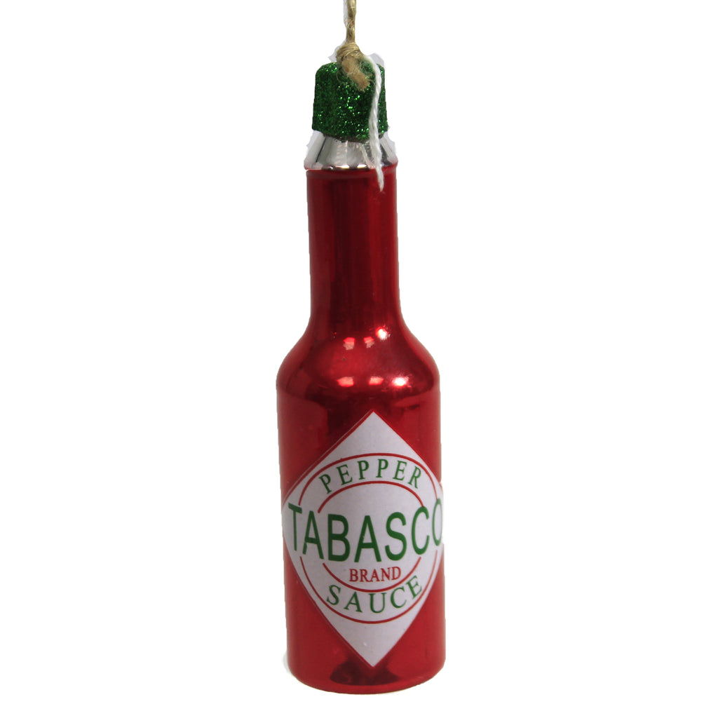 Tabasco Hot Sauce Go6474 Holiday Ornament Glass Ornaments - SBKGIFTS.COM - SBK Gifts Christmas Shop Cincinnati - Story Book Kids
