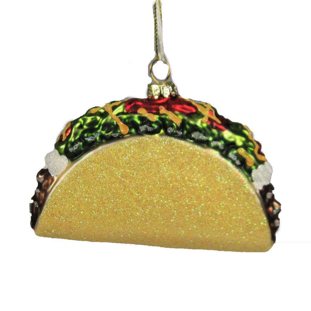 Beef Taco Go6755 Holiday Ornament Glass Ornaments - SBKGIFTS.COM - SBK Gifts Christmas Shop Cincinnati - Story Book Kids