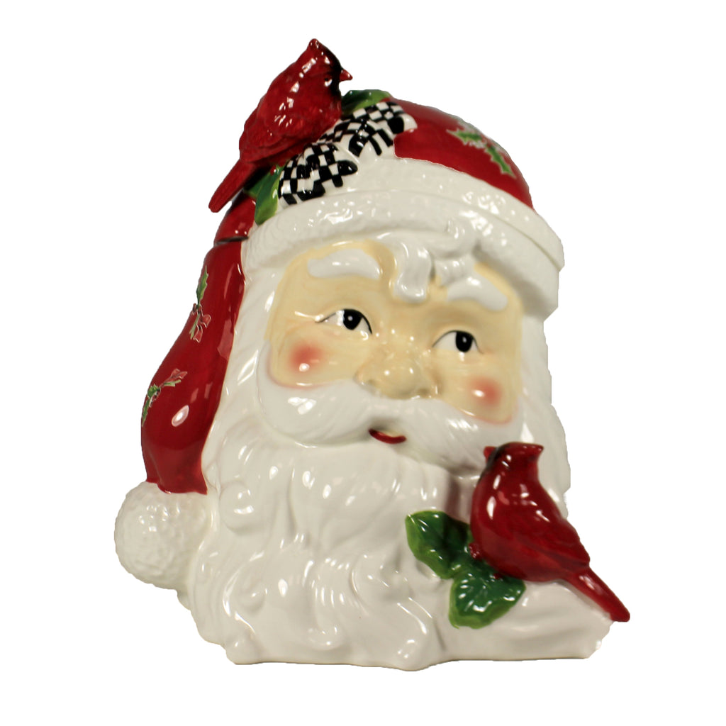 Santa Head Container 54385A Tabletop Cookie Jars - SBKGIFTS.COM - SBK Gifts Christmas Shop Cincinnati - Story Book Kids
