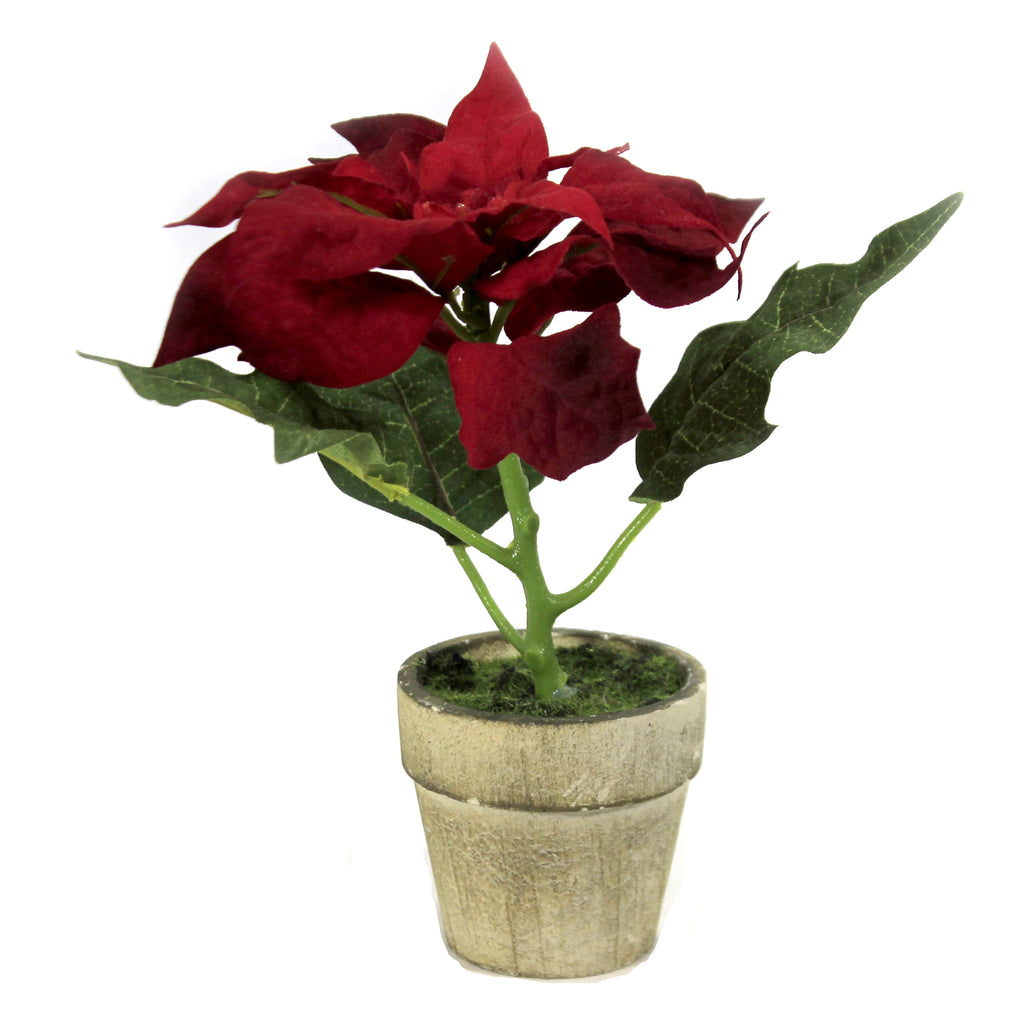Potted Red Poinsettia 54680A Christmas Home Decor - SBKGIFTS.COM - SBK Gifts Christmas Shop Cincinnati - Story Book Kids