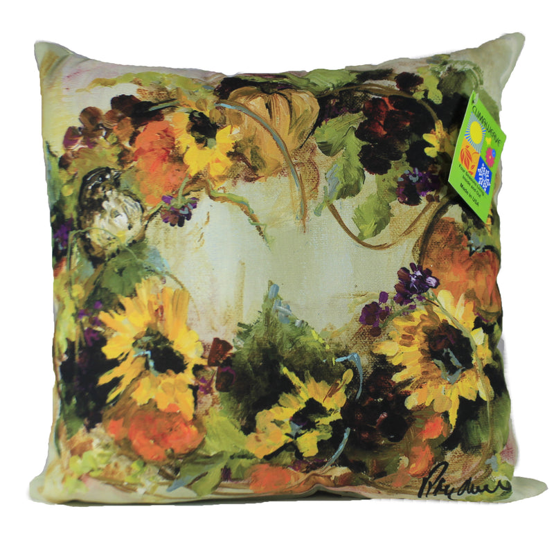 Sunflower Wreath Pillow Slsfwr Fall Decorative Pillows - SBKGIFTS.COM - SBK Gifts Christmas Shop Cincinnati - Story Book Kids