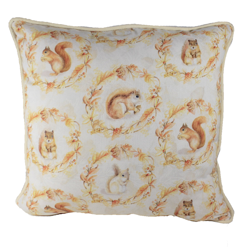 Squirrels And Acorns Pillow Slsaas Fall Decorative Pillows - SBKGIFTS.COM - SBK Gifts Christmas Shop Cincinnati - Story Book Kids