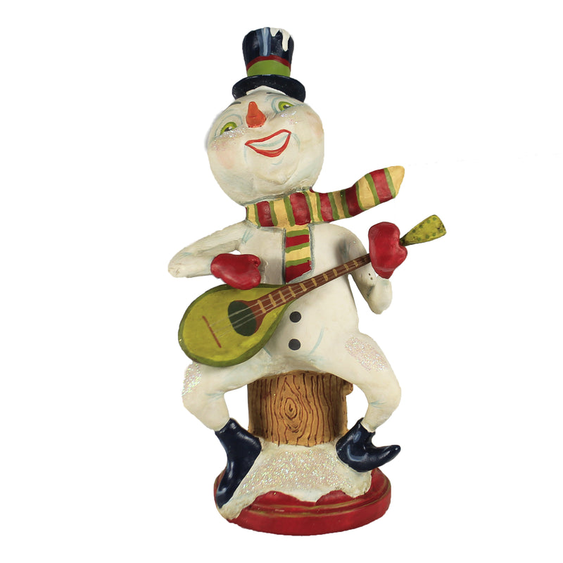 Strumming Snowman 43021 Christmas Figurines - SBKGIFTS.COM - SBK Gifts Christmas Shop Cincinnati - Story Book Kids