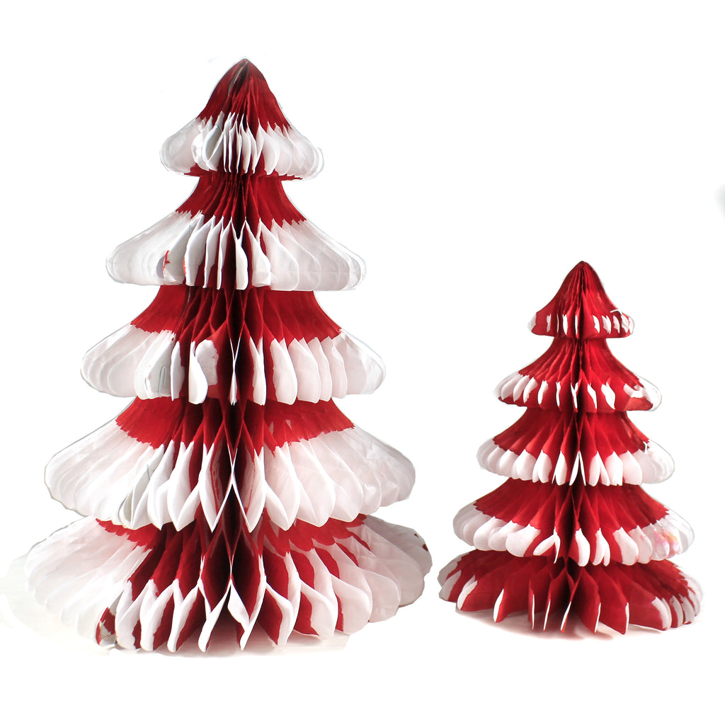 Red Honeycomb Trees Ms5024r Christmas Bottle Brush Trees And Feather Trees And Tinsel Trees And Decorative Trees - SBKGIFTS.COM - SBK Gifts Christmas Shop Cincinnati - Story Book Kids