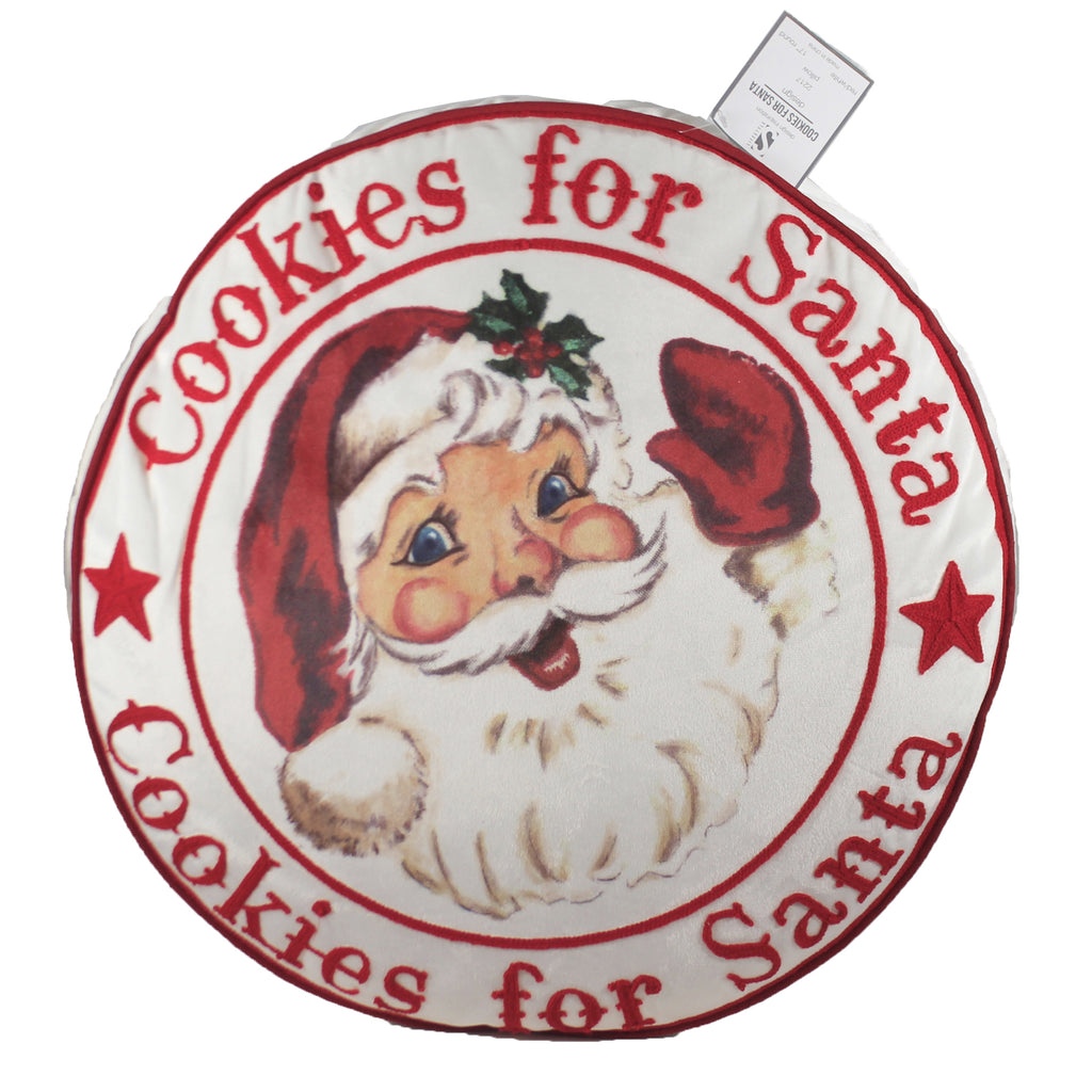 Cookies For Santa Pillow 2217 Home Decor Decorative Pillows - SBKGIFTS.COM - SBK Gifts Christmas Shop Cincinnati - Story Book Kids
