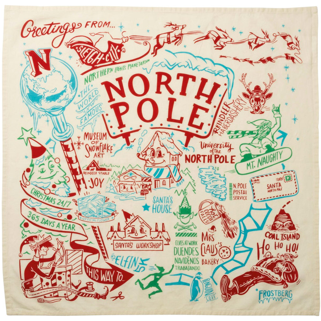 North Pole Dish Towel 33743 Tabletop Decorative Towels - SBKGIFTS.COM - SBK Gifts Christmas Shop Cincinnati - Story Book Kids