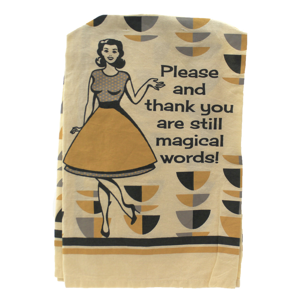 Please & Thank You Dish Towel 105625 Tabletop Decorative Towels - SBKGIFTS.COM - SBK Gifts Christmas Shop Cincinnati - Story Book Kids