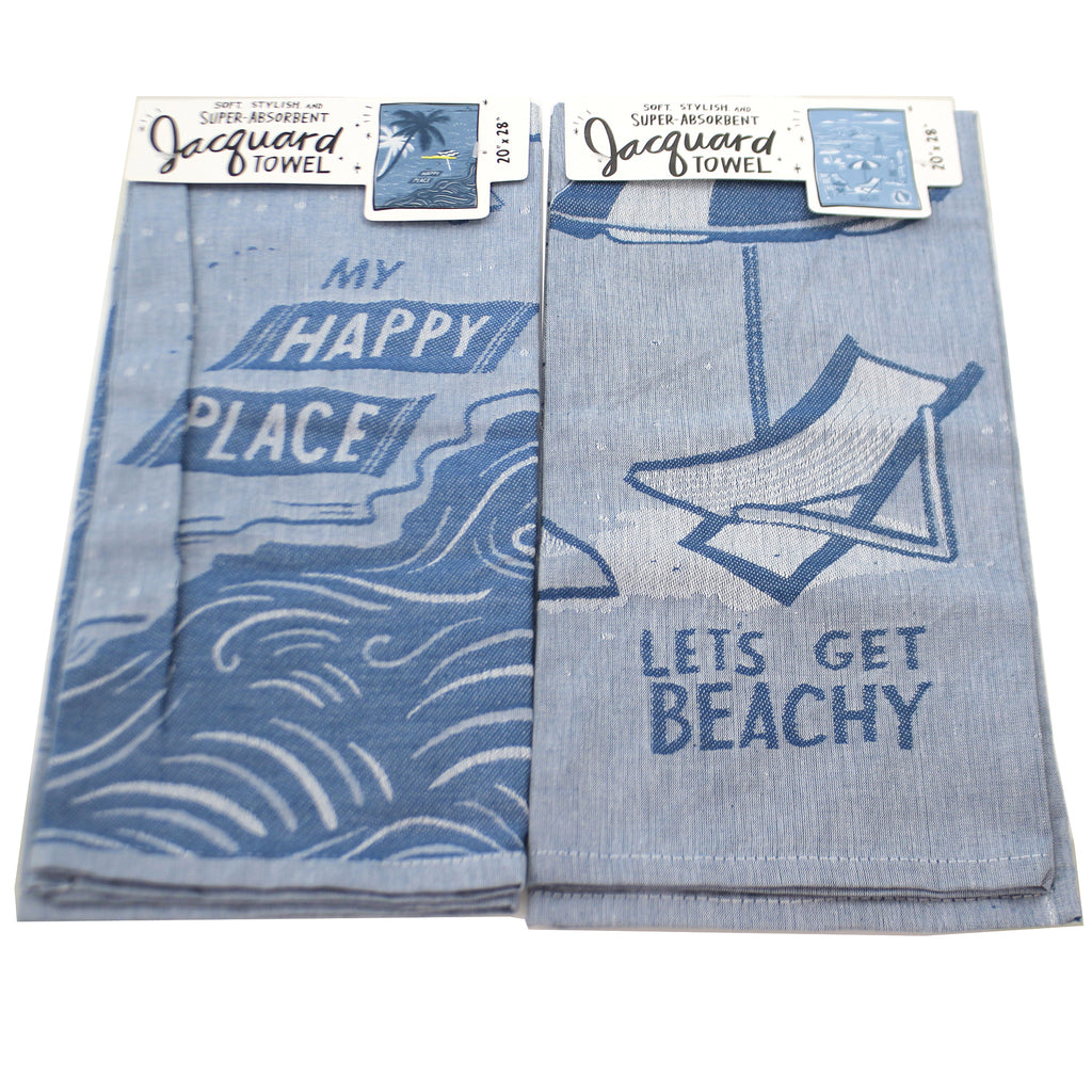 Beach Life Dish Towels Set/2 103686*103872 Tabletop Decorative Towels - SBKGIFTS.COM - SBK Gifts Christmas Shop Cincinnati - Story Book Kids