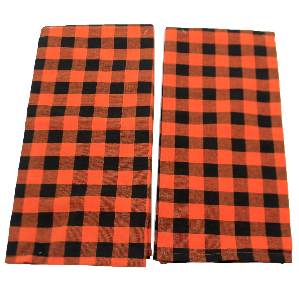 Checkered Halloween Towels S/2 106517*5106519 Tabletop Decorative Towels - SBKGIFTS.COM - SBK Gifts Christmas Shop Cincinnati - Story Book Kids