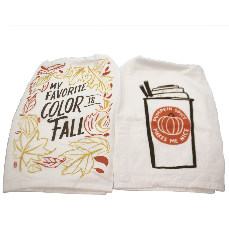 Pumpkin Spice & Favorite Color 101357*35526 Set/2 Tabletop Decorative Towels - SBKGIFTS.COM - SBK Gifts Christmas Shop Cincinnati - Story Book Kids