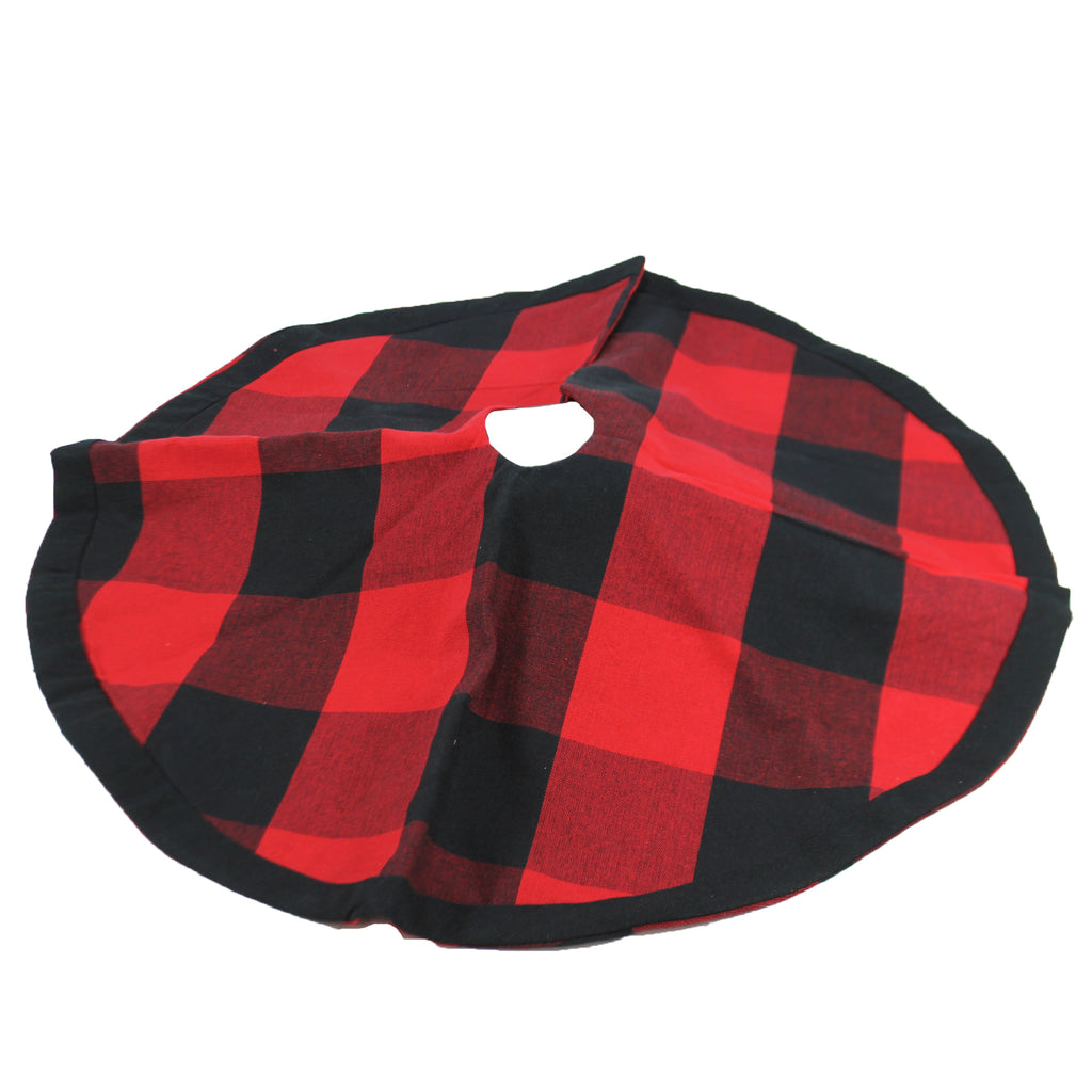 Red Black Buffalo Plaid Skirt 107269 Christmas Tree Skirts - SBKGIFTS.COM - SBK Gifts Christmas Shop Cincinnati - Story Book Kids