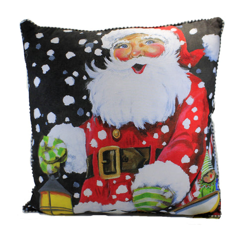 Gallary Snowy Santa Pillow C20098 Home Decor Decorative Pillows - SBKGIFTS.COM - SBK Gifts Christmas Shop Cincinnati - Story Book Kids