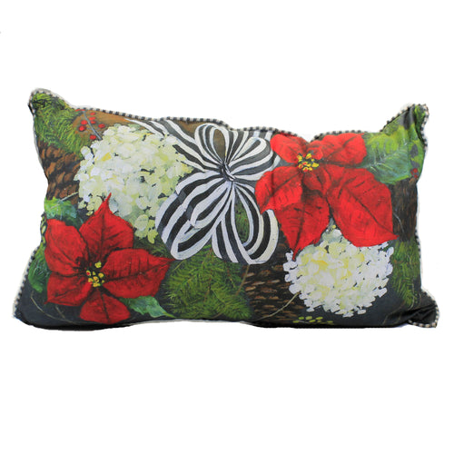 Gallary Poinsettia Pillow C19099 Home Decor Decorative Pillows - SBKGIFTS.COM - SBK Gifts Christmas Shop Cincinnati - Story Book Kids