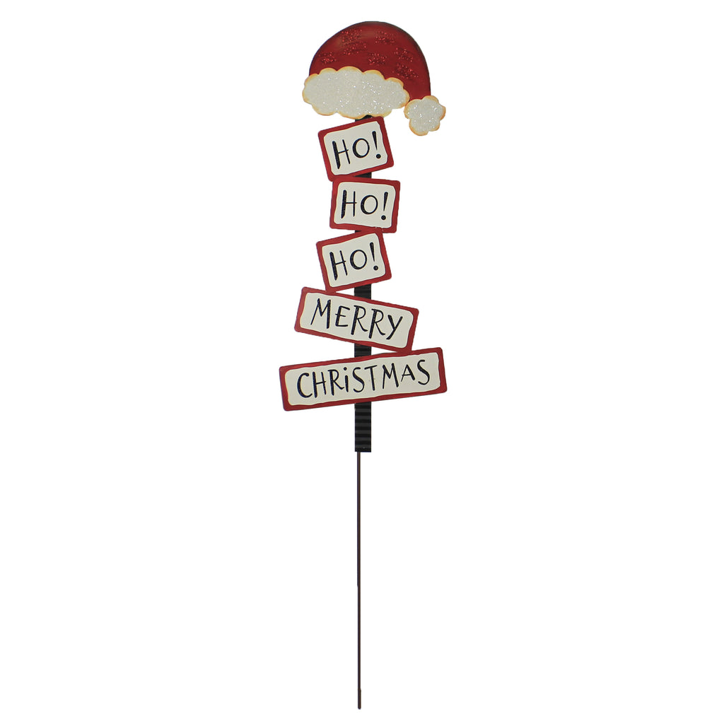 Ho Ho Ho Santa Sign Yard Stake C19080 Home & Garden Decorative Stakes And Pokes And Plant Sticks - SBKGIFTS.COM - SBK Gifts Christmas Shop Cincinnati - Story Book Kids