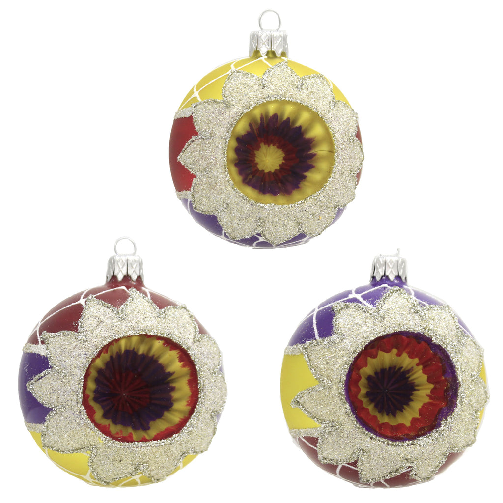 Fire & Ice Reflectors S/3 20M1050 Santa Land Ornament Sets - SBKGIFTS.COM - SBK Gifts Christmas Shop Cincinnati - Story Book Kids