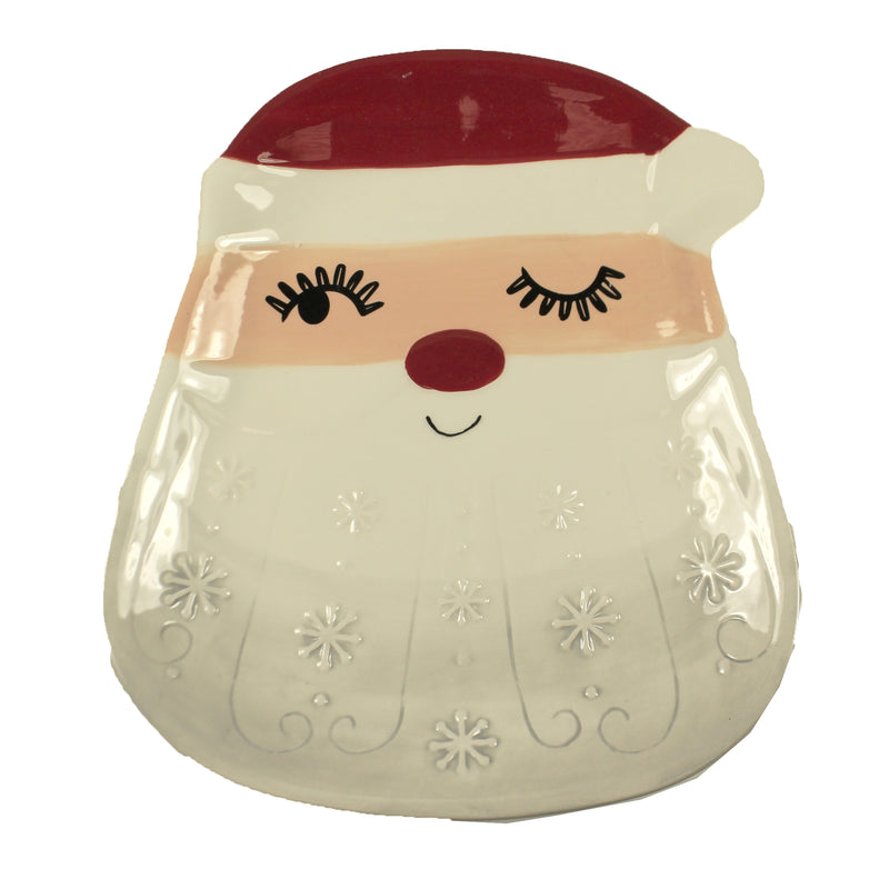 Santa Snack Plate Mx177045 Tabletop Plates And Platters - SBKGIFTS.COM - SBK Gifts Christmas Shop Cincinnati - Story Book Kids