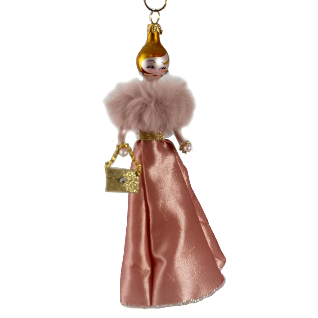 Lauren In Long Pink Gown Do7598 De Carlini Glass Ornaments - SBKGIFTS.COM - SBK Gifts Christmas Shop Cincinnati - Story Book Kids