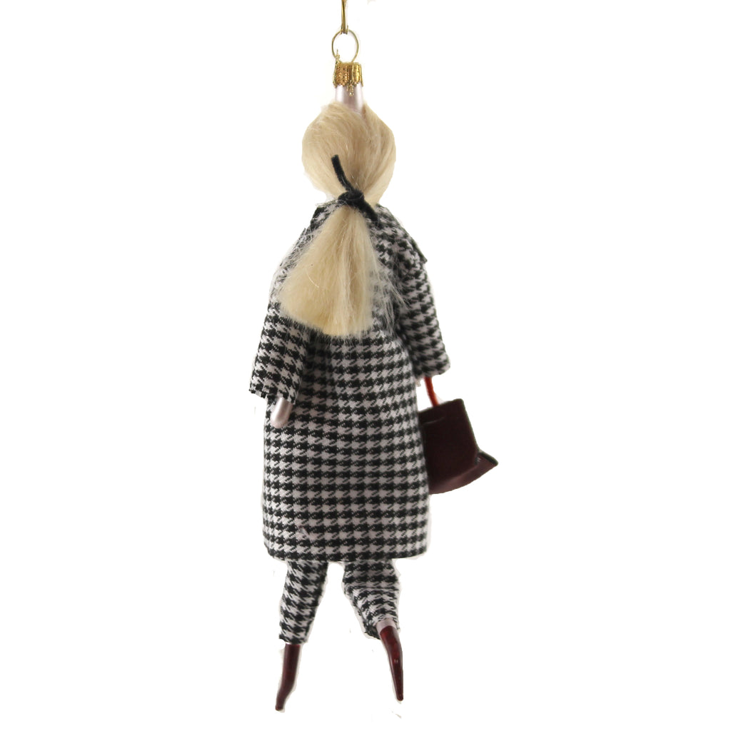 Annie In A Houndstooth Suit Do7661 De Carlini Glass Ornaments - SBKGIFTS.COM - SBK Gifts Christmas Shop Cincinnati - Story Book Kids
