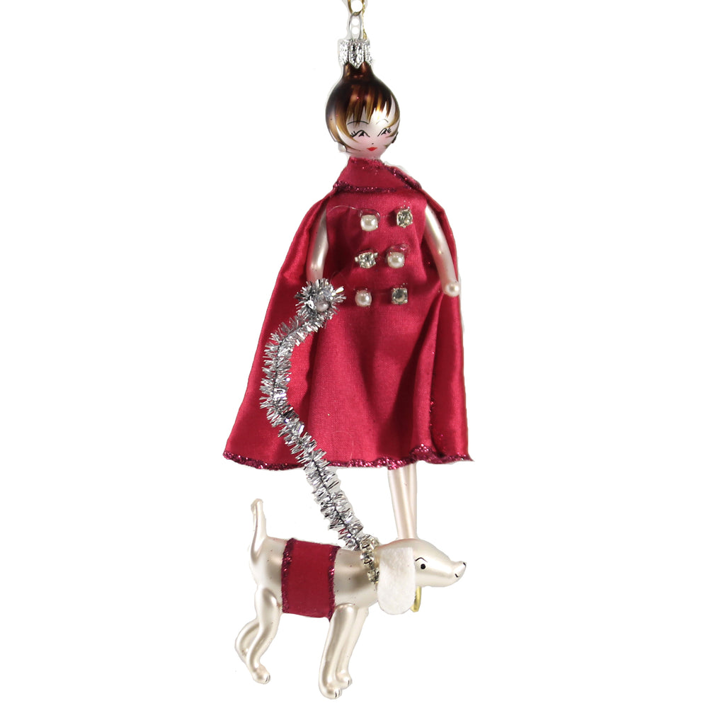Lady Isabella In Fuxia Cape Do7594 De Carlini Glass Ornaments - SBKGIFTS.COM - SBK Gifts Christmas Shop Cincinnati - Story Book Kids