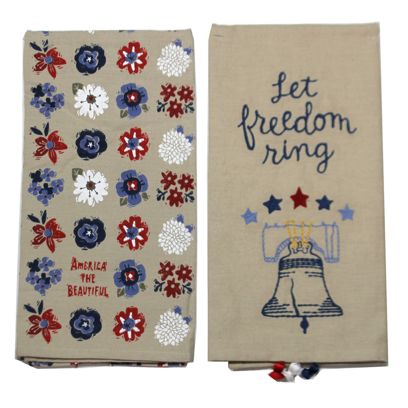 Liberty Bell Dish Towel 103960.988 Tabletop Decorative Towels - SBKGIFTS.COM - SBK Gifts Christmas Shop Cincinnati - Story Book Kids