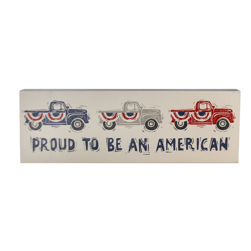 Proud American Box Sign 103964 Home Decor Signs And Plaques - SBKGIFTS.COM - SBK Gifts Christmas Shop Cincinnati - Story Book Kids