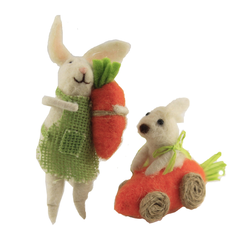Cream Spring Bunnies 107057.059 Holiday Ornament Plush Ornaments - SBKGIFTS.COM - SBK Gifts Christmas Shop Cincinnati - Story Book Kids