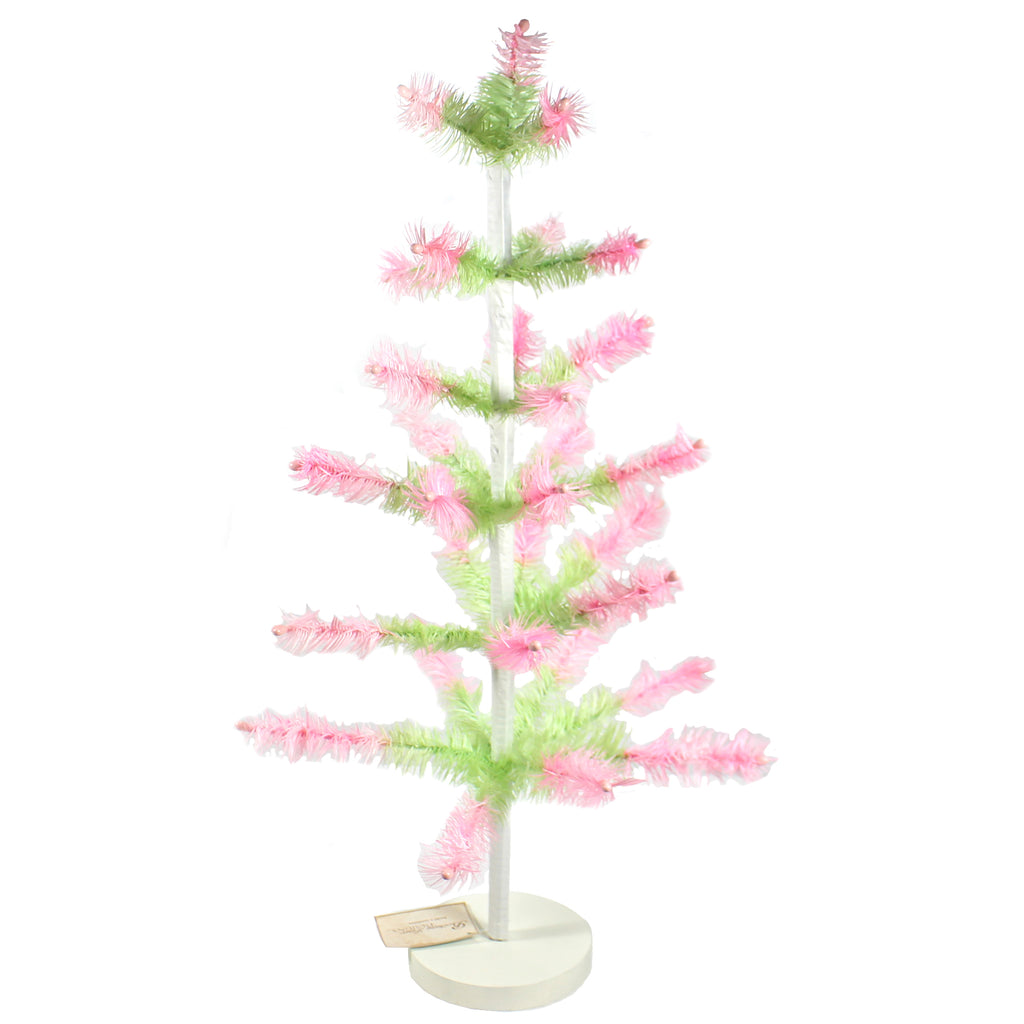Feather Tree Green With Pink Lg0653 Easter Bottle Brush Trees And Feather Trees And Tinsel Trees And Decorative Trees - SBKGIFTS.COM - SBK Gifts Christmas Shop Cincinnati - Story Book Kids