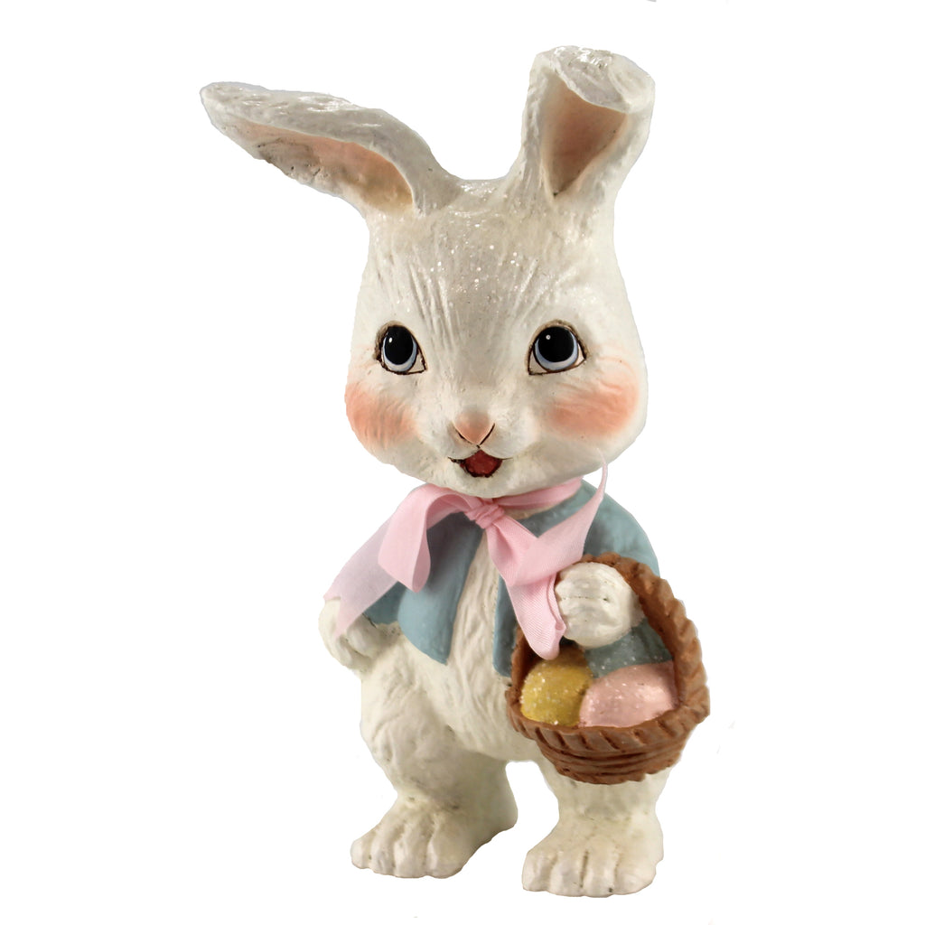 Sweet Bunny With Basket Td8500 Easter Figurines - SBKGIFTS.COM - SBK Gifts Christmas Shop Cincinnati - Story Book Kids