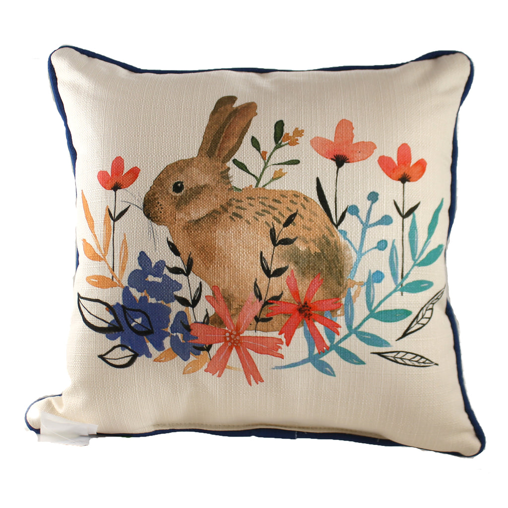 Floral Bunny Chi0109 Home Decor Decorative Pillows - SBKGIFTS.COM - SBK Gifts Christmas Shop Cincinnati - Story Book Kids