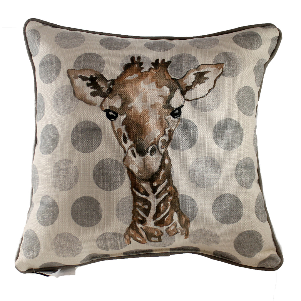 Polka Dot Giraffe Pillow Chi0120acp Home Decor Decorative Pillows - SBKGIFTS.COM - SBK Gifts Christmas Shop Cincinnati - Story Book Kids