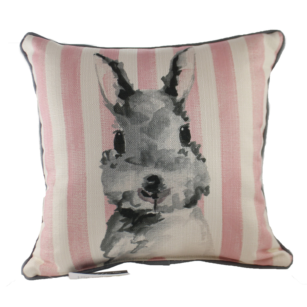 Pink Stripe Bunny Pillow Chi0121ac Home Decor Decorative Pillows - SBKGIFTS.COM - SBK Gifts Christmas Shop Cincinnati - Story Book Kids