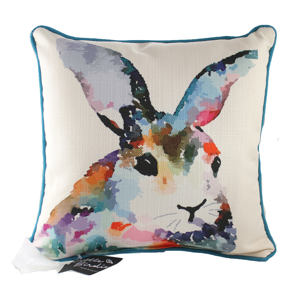 Colorful Rabbit Pillow Ani0015 Home Decor Decorative Pillows - SBKGIFTS.COM - SBK Gifts Christmas Shop Cincinnati - Story Book Kids