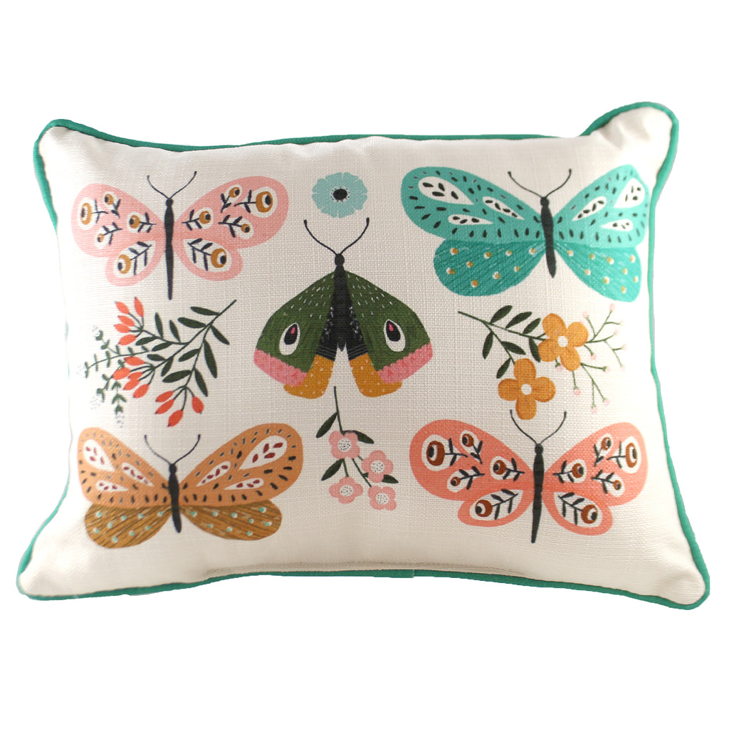 Botanical Butterflies Pillow Txt0640 Home Decor Decorative Pillows - SBKGIFTS.COM - SBK Gifts Christmas Shop Cincinnati - Story Book Kids