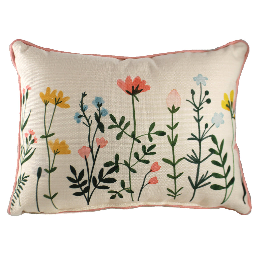 Wildflower Rectangle Pillow Txt0583 Home Decor Decorative Pillows - SBKGIFTS.COM - SBK Gifts Christmas Shop Cincinnati - Story Book Kids